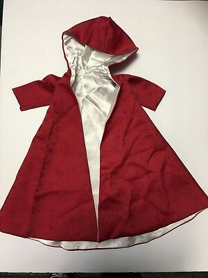 Red Doll Cape w/ Hood By Mary Beyer