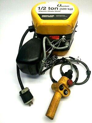 Ingersoll Rand Q50-1nd50e 10-11-4cp Quantum Electric Chain Hoist 12 Ton