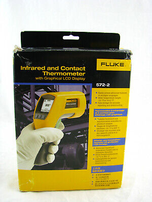 Fluke 572-2 Ir And Contact Thermometer -22-1652f Range 601 Ratio