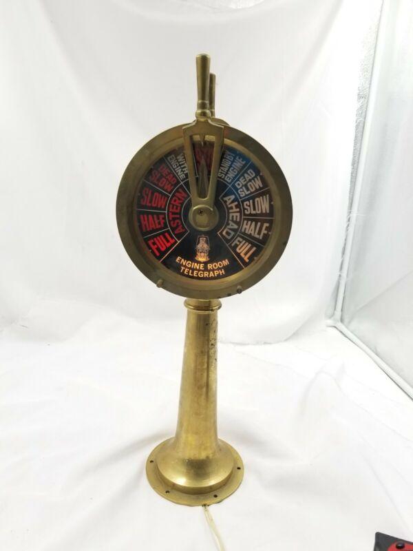 "Brass 17"" Double Face Ships Telegraph Lamp"
