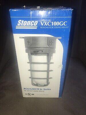 Stonco Roughlyte Vaportight 100w Hazzardous Indrl Ceiling Mount Light Fixture