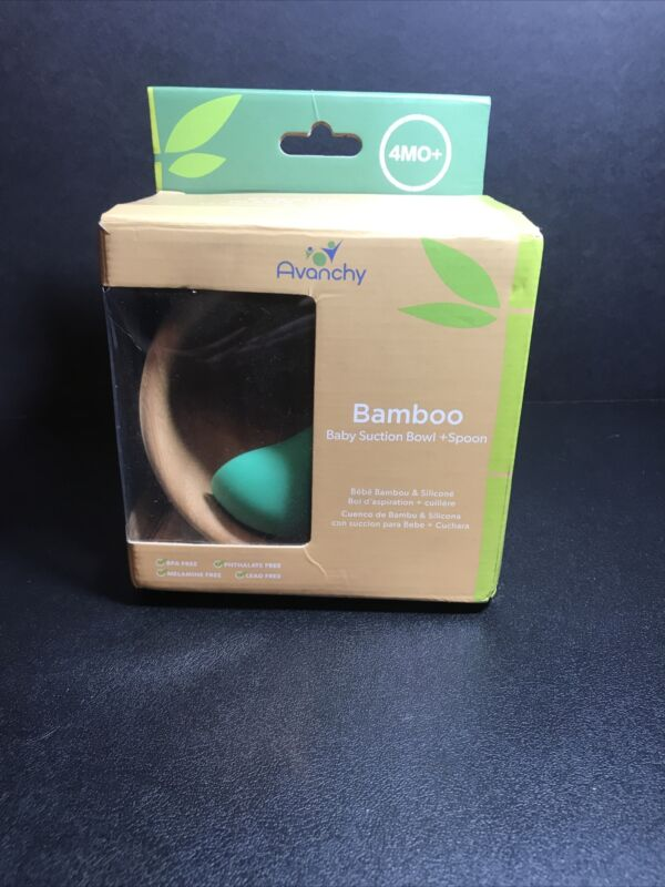 Avanchy Bamboo Stay-Put Suction Bowl & Spoon