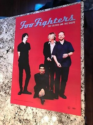 Foo Fighters The Colour And The Shape '97 RARE promo poster ROSWELL RECORDS