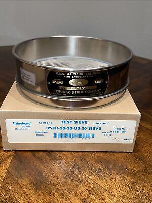Fisherbrand Standard Test Sieve 8 No. 20 New Stainless Steel