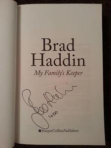 """Brad Haddin Signed Book My Family's Keeper - Inscribed """"400"""" Melbourne CBD Melbourne City Preview"""