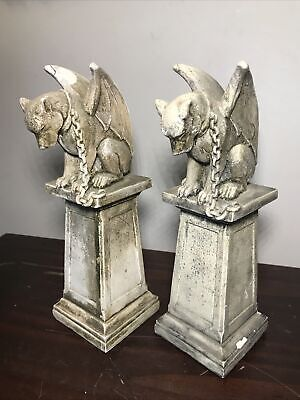 Gargoyle Statue Guardian of Hopes & Dreams Medieval Gothic JWH Studio 1991 Two