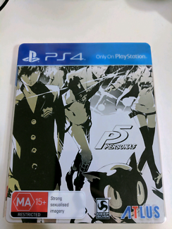 Persona 5 steel book edition limited ps4