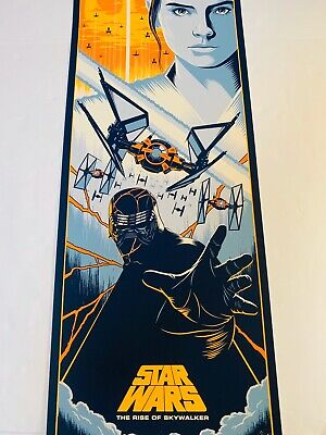 Eric Tan Star Wars Poster Rise Of Skywalker #d Print Rey Tie Fighter Kylo Ren