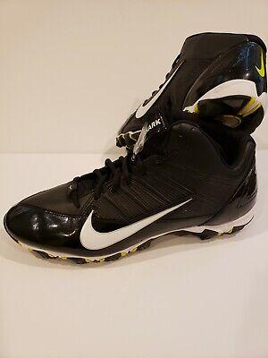outlet store a8994 ff45d Nike Alpha Shark Black White Fastflex Football Cleats Men s Shoe Sz 14