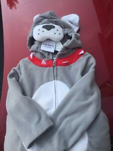 Bull dog Halloween costume 24 month size