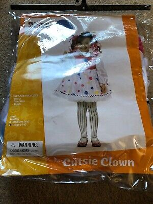 Toddler Clown Costume Girl (New Cutsie Clown Toddler Costume Large)