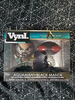 AQUAMAN MOVIE AQUAMAN & BLACK MANTA VINYL FIGURE 2 PACK FUNKO VYNL DC - Marvel
