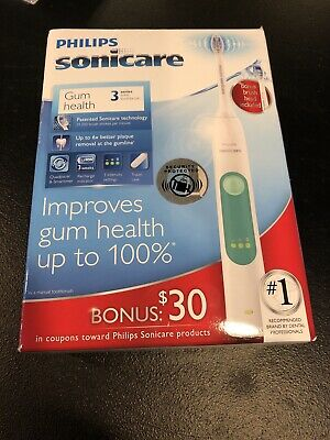 New Philips Sonicare Gum Health 3 Series Rechargeable Toothbrush # HX6632/21