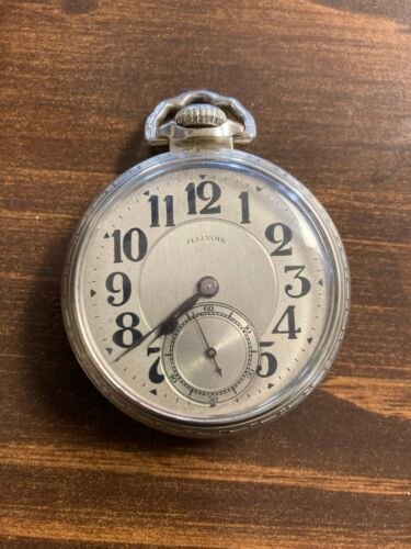 "Antique Illinois ""Bunn Special"" Railroad Pocket Watch"