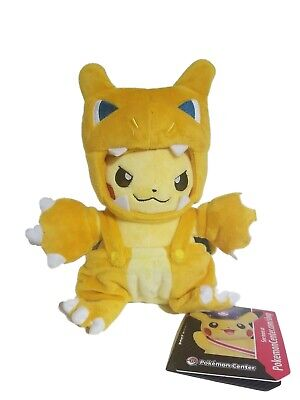 Pokemon Center Poke maniac Pikachu Charizard Costume new with Tag RARE plush