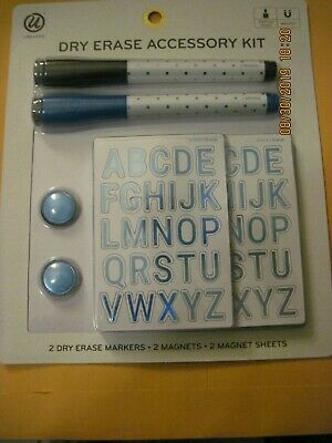 Dry Erase Access.kit -ubrands 2 Markers 2 Magnets And 2 Sheets Letters 6 Sets