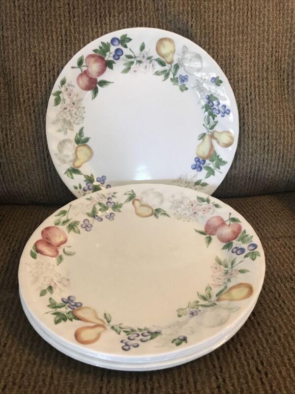 "Six (6) Corelle Chutney 9"" Lunch/Salad Plates"
