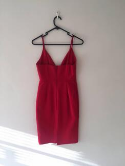 Red Cocktail Dress - Size 8 - Excellent Condition