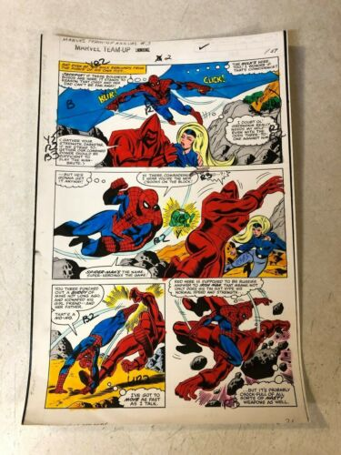 MARVEL TEAM UP AN #2 art color guide SPIDER-MAN CRIMSON DYNAMO 1979 Claremont