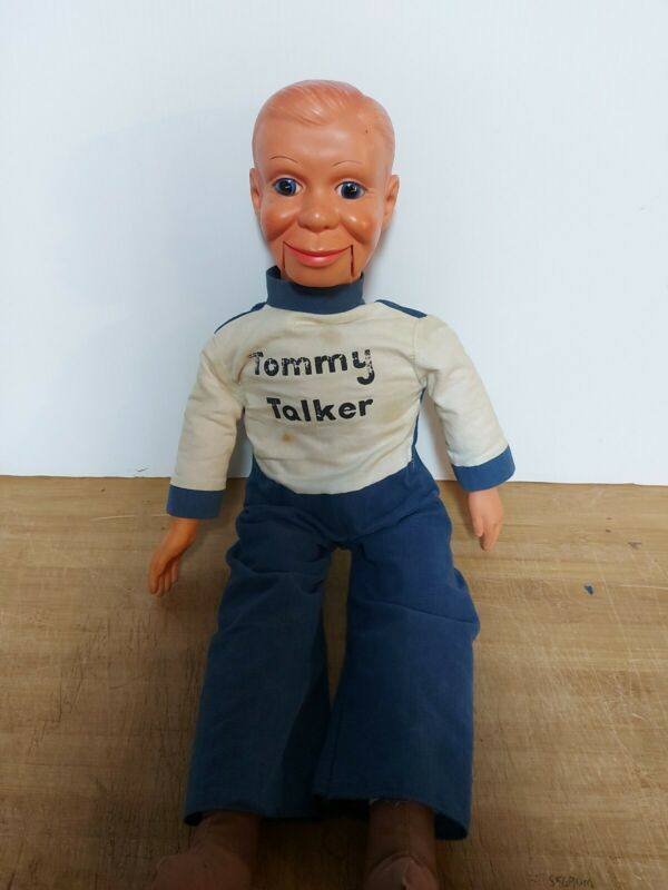 Vintage Tommy Talker Ventriloquist Doll Used Working Htf
