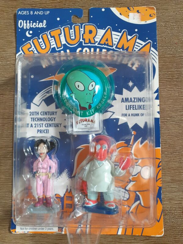 FUTURAMA OFFICIAL ORIGINAL METAL COLLECTIBLE SET.2001.NEVER OPENED. Vintage