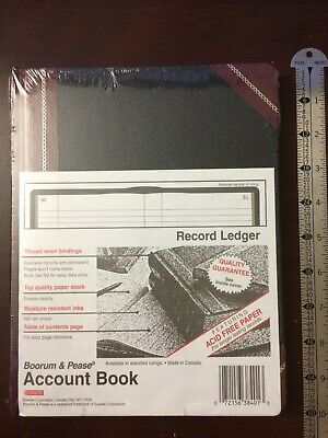 Boorum Pease Record Ledger Account Book Record Rule 150 Pages 9 58 X 7 58
