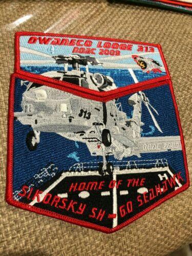 OA OWANECO LODGE 313 2009 NOAC HOME OF SIKORSKY SH-GO SEAHAWK TWO PIECE SET