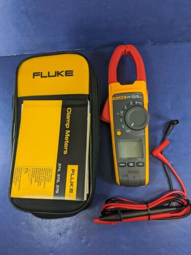 New Fluke 374 TRMS AC DC Clamp, Screen Protector, Soft, Accessories