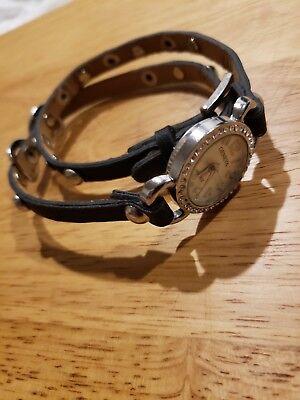 Double Wrap Around Bracelet - Geneva Stylish Wrap Around Double Strap Bracelet Long Band Fashion Watch