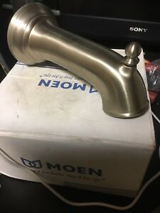 "Moen 3857BNBrushed Nickel 7 1/4"" Tub Spout"