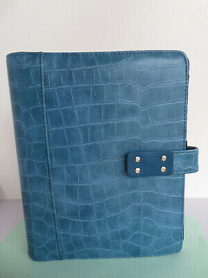 Classic Desk 1 Rings 7 Sim.croc Leather Day-timer Plannerbinder Mag-snap