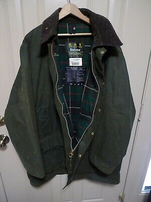 BARBOUR - A400 NORTHUMBRIA WAX COTTON  JACKET-  SAGE- MADE @ UK- SIZE 50