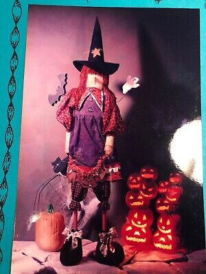"52"" Tall Witch Halloween Pattern ""Wendy"" #161 Uncut New"