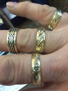 4 gold rings