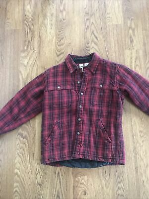 Boys Woolrich Quilted Shirt Jacket Size S(8)