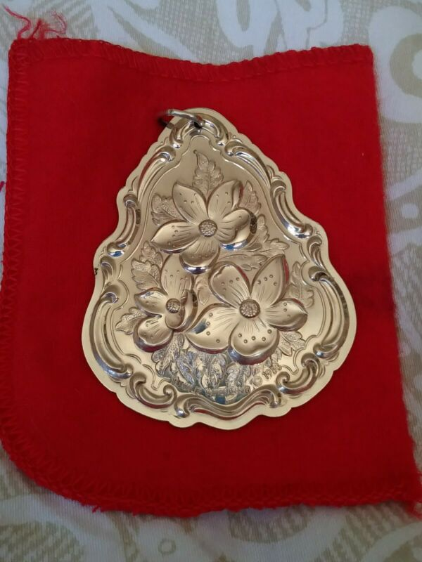 Wow! 1983 Towle Sterling Silver Flowers of Christmas - Christmas Rose Ornament