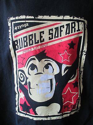 Zynga Bubble Safari San Diego Monkey On Line Game Black T Shirt 2Xl  Look