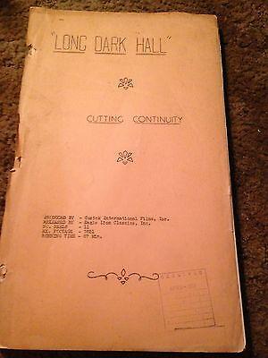 Rex Harrison Lilli Palmer The Long Dark Hall ORIGINAL 1951 MOVIE SCRIPT