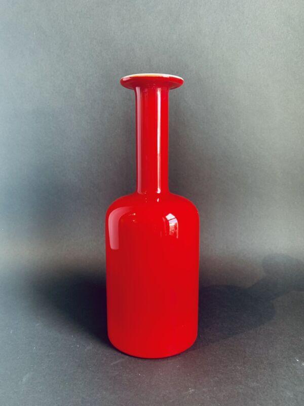 """HOLMEGAARD Gulvase 10"""" Red Cased Glass"""
