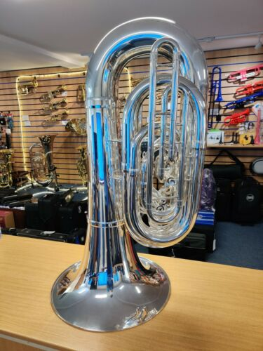 King 1141 BBb Marching Tuba - Silver (ex-hire instrument, fully serviced)