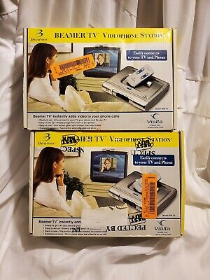 1 Pair Vialta Beamer TV Videophone Station BM-TV vintage video conference phone