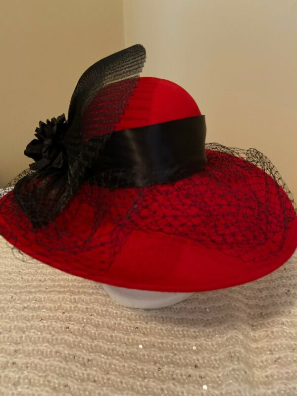 Made In USA Beautiful Red Wool Church Hat