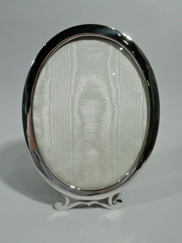 Birks Frame Picture Photo Modern Classical Oval Canadian Sterling Silver