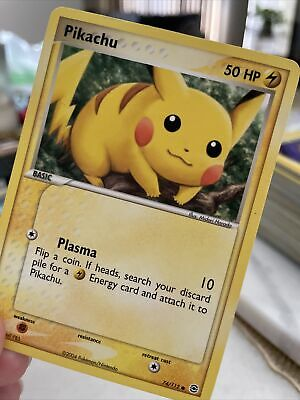 Pikachu EX fire red & leaf green 74/112 LP