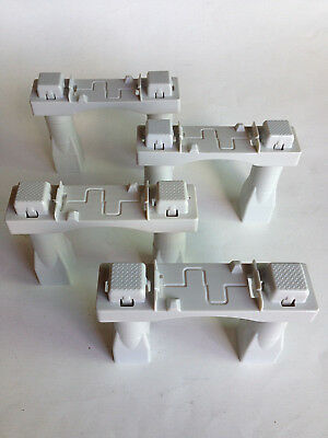 "Fisher Price Geo Trax 4"" Gray Elevation Bridge Support Track Risers - Lot of 4"
