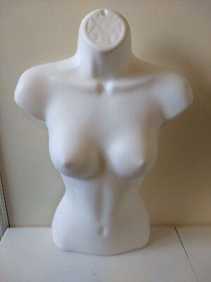 Female Mannequin Form White Body Torso Display Women Dress Shirt