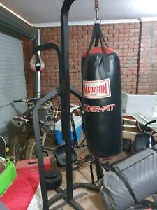 Boxing bag on stand