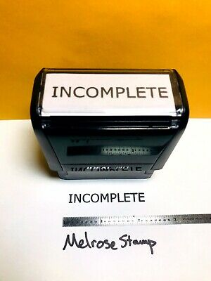 Incomplete Rubber Stamp Black Ink Self Inking Ideal 4913