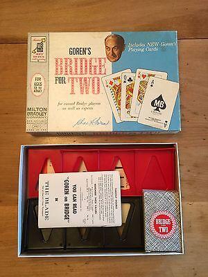 VINTAGE MILTON BRADLEY GOREN'S BRIDGE FOR TWO (C) 1964 INCLUDES PLAYING CARDS
