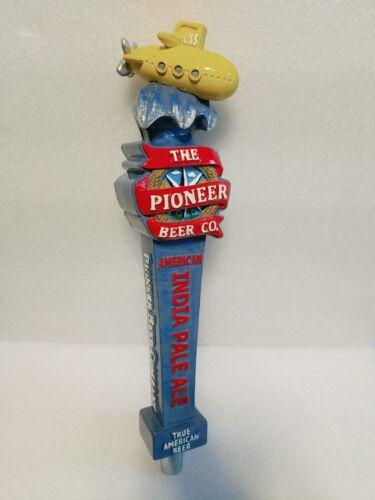 "Pioneer Beer Co Yellow Submarine Rare American 12"" Draft Beer Keg Bar Tap Handle"